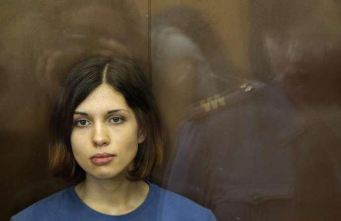 Nadejda Tolokonnikova, la Pussy Riot transférée en Sibérie, le 17 août 2012.
