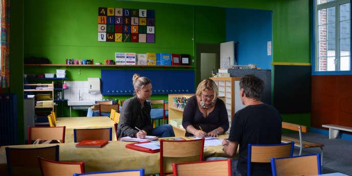 Réunion de pré-rentrée à la maternelle des sources, à Hautot-sur-Mer près de Dieppe.
