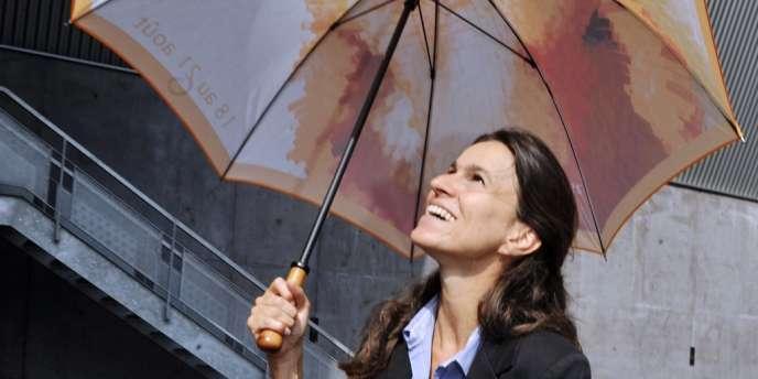 La ministre de la culture Aurélie Filippetti à Aurillac, le 23 août 2012.