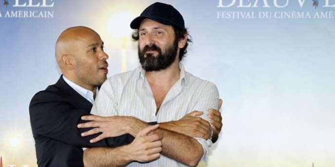 L'acteur Eric Judor et le réalisateur Quentin Dupieux lors du 38e Festival du cinéma américain de Deauville, le 3 septembre 2012.