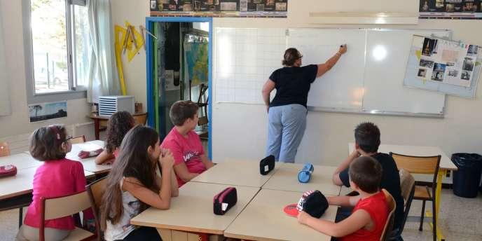 A l'école élémentaire Plan de la Cour, à Vitrolles, le 27 août 2012, lors d'une rentrée des classes anticipée.