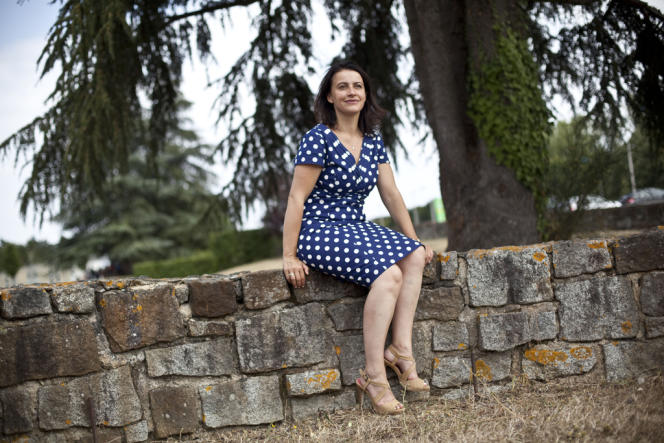 Cécile Duflot, ministre du logement, lors de l'université d'été d'Europe Ecologie - Les Verts, à Poitiers, le 23 août.