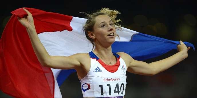 Marie-Amelie le Fur, victorieuse du 100 m aux Jeux paralympiques de Londres, le 2 septembre.