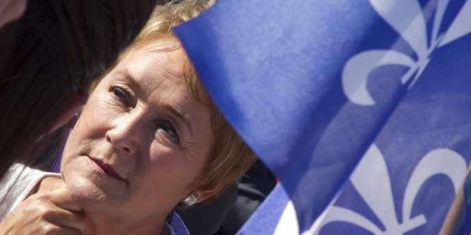 Pauline Marois, chef du Parti québecois (PQ), en 2012.