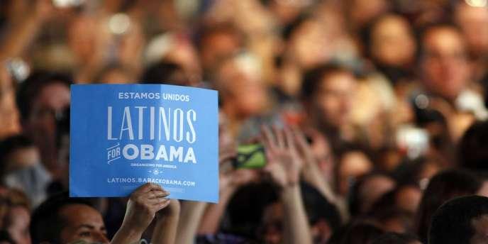 Lors d'un meeting de Barack Obama, à Pueblo (Colorado), le 9 août.