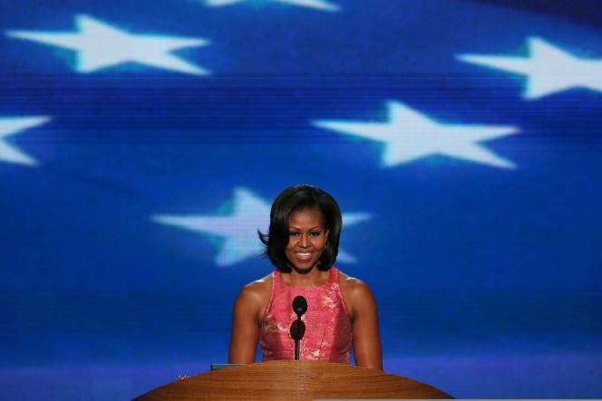 Michelle Obama, lors de son discours à la convention démocrate de Charlotte (Caroline du Nord), le 4 septembre 2012.