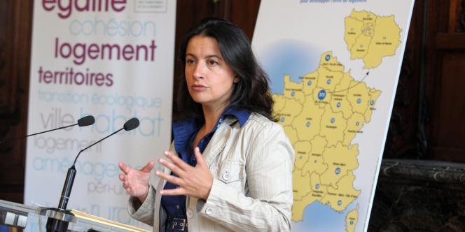 Lors de la conférence de presse de Cécile Duflot, le 5 septembre.
