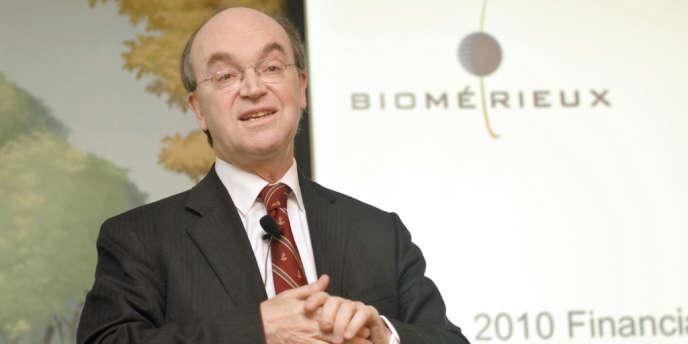 Jean-Luc Bélingard, PDG de bioMérieux, a présenté mardi 4 septembre 2012 les résultats semestriels de l'entreprise lyonnaise. Ici, en 2011 à Paris.