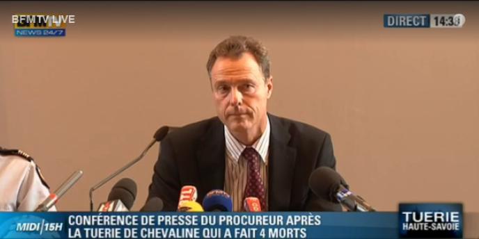 Le procureur de la République, Eric Maillaud, lors d'une conférence de presse le 6 septembre.