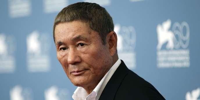 Le cinéaste japonais Takeshi Kitano lors de la 69e Mostra de Venise, le 3 septembre 2012.