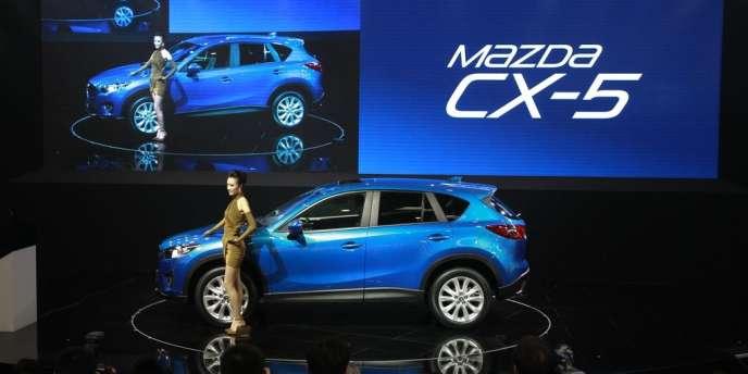 La Mazda CX-5 lors du Salon international de l'automobile à Pékin, fin avril.