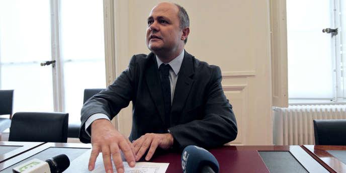 Le président du groupe socialiste à l'Assemblée nationale, Bruno Le Roux.