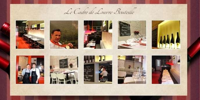 Visuels du restaurant Louvre Bouteille, à Paris.