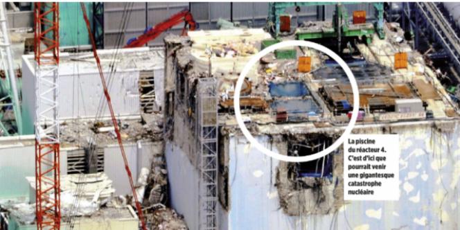 Photo de la piscine du réacteur 4 publiée dans