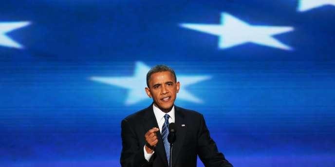 Barack Obama lors de son discours à la convention démocrate.