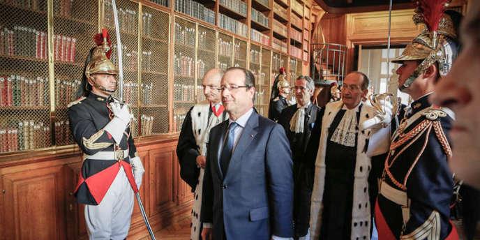 François Hollande devant la Cour des comptes, vendredi 7 septembre.