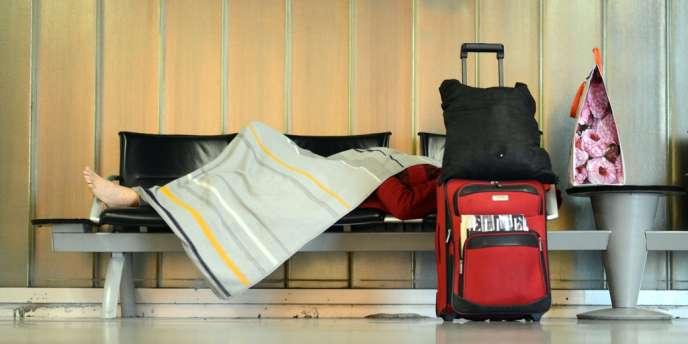 Pour la troisième fois depuis fin août, hôtesses et stewards de la compagnie aérienne Lufthansa font grève - ici, à l'aéroport de Francfort, le 7 septembre 2012.