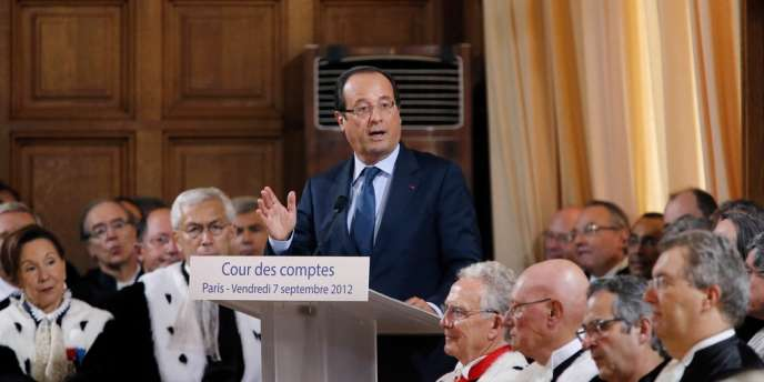 Le président Hollande lors de son discours à la Cour des comptes vendredi 7 septembre.