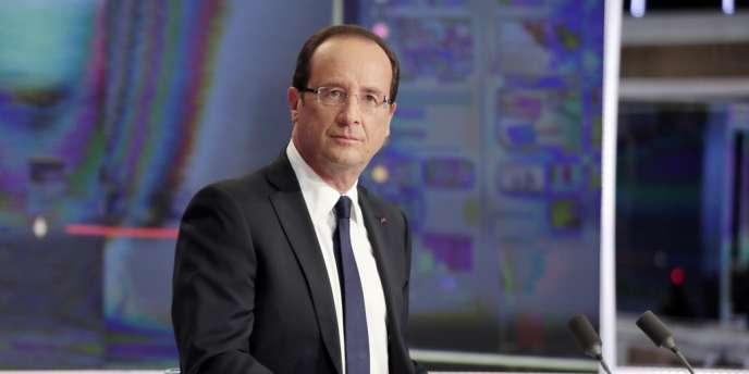 François Hollande, sur le plateau de TF1 dimanche 9 septembre.