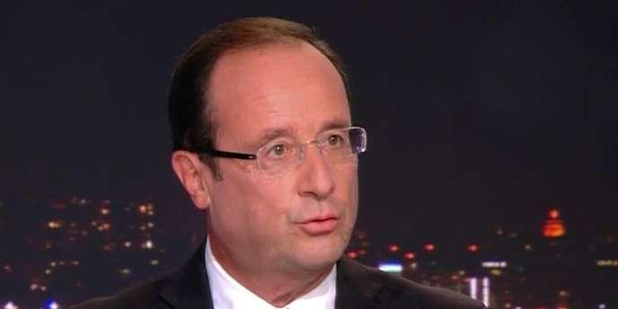 François Hollande était l'invité du journal télévisé de TF1, dimanche 9 septembre.