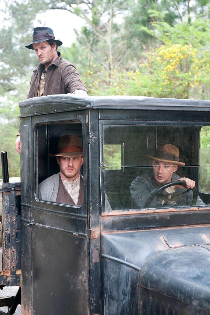 De gauche à droite : Jason Clarke, Tom Hardy et Shia LaBeouf dans le film américain de John Hillcoat,