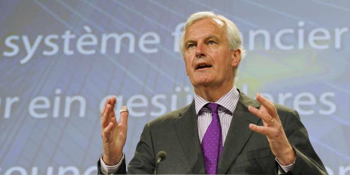 Michel Barnier, commissaire chargé des services financiers, doit présenter son projet de supervision des banques européennes, mercredi 12 septembre 2012 - ici, à Bruxelles, le 6 juin 2012.