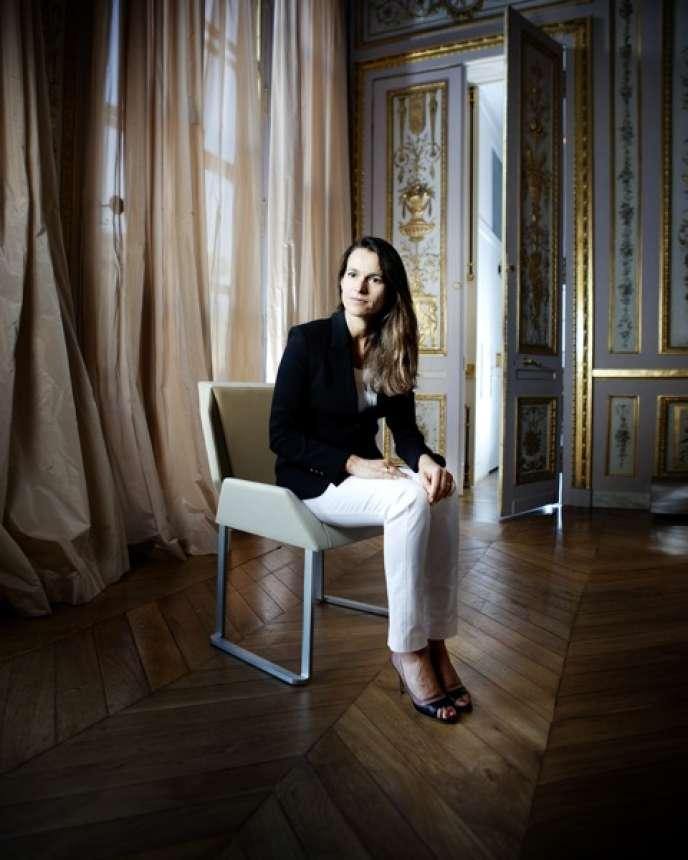 Aurélie Filippetti, le 4 septembre, au ministère, rue de Valois.