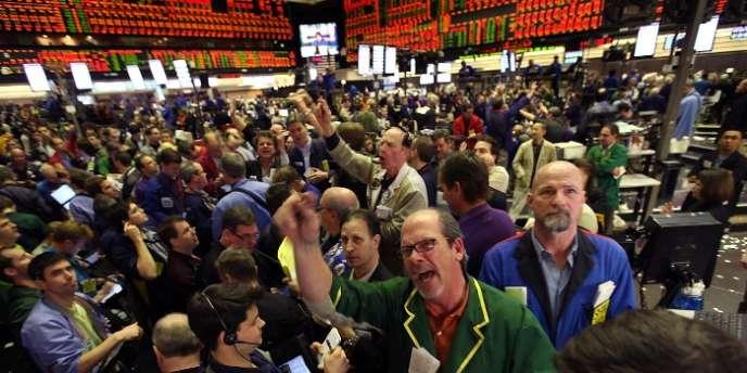A la Bourse de Chicago.