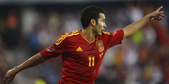 Pedro Rodriguez, ici à Pontverda le 7 septembre face à l'Arabie saoudite, et l'Espagne débarquent mardi à Tbilissi avec l'objectif de bien démarrer la campagne qualificative pour le Mondial 2014.