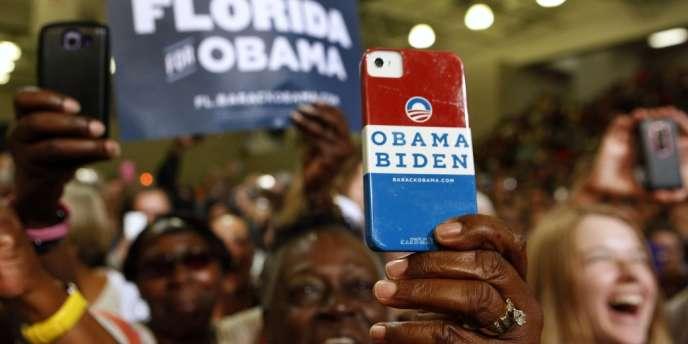 Lors d'un discours de campagne de Barack Obama en Floride, le 9 septembre.