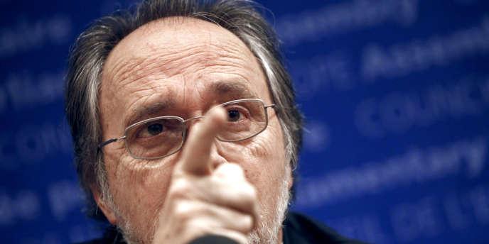 Dick Marty, en charge du rapport du Conseil de l'Europe sur les trafics d'organes humains au Kosovo, en 2010.