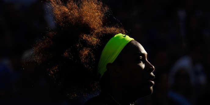 Serena Williams, lors du match contre Victoria Azarenka, au quatorzième jour de l'US Open, le 9 septembre.