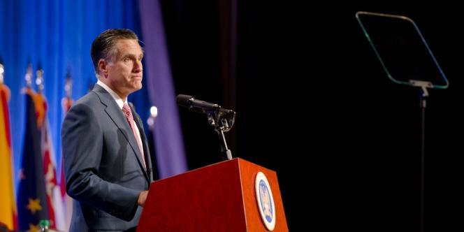Mitt Romney devant l'Association américaine des gardes nationaux, à Reno, dans le Nevada, le 11 septembre 2012.