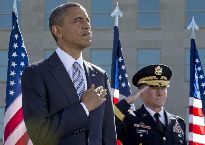 Barack Obama, au Pentagone, pour l'anniversaire des attaques du 11-Septembre.
