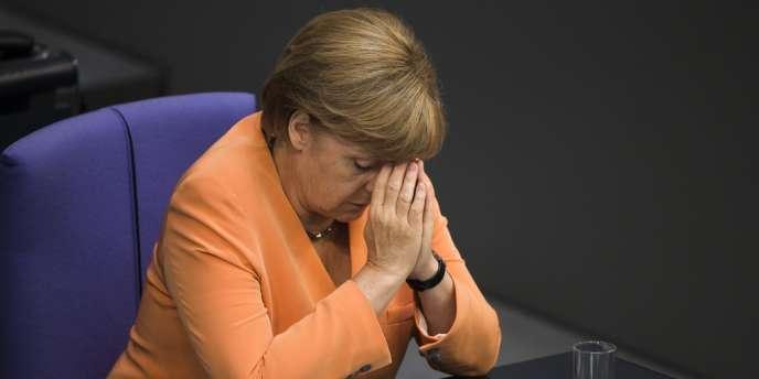 Angela Merkel lors de la première session sur le budget 2013 au Bundestag le 11 septembre.