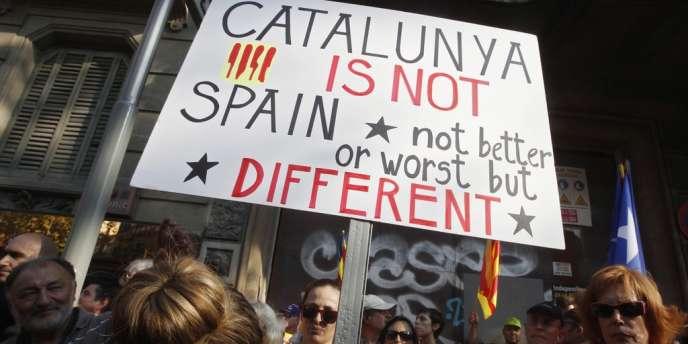 Plus d'un million et demi de manifestants ont défilé à Barcelone, mardi 11 septembre.