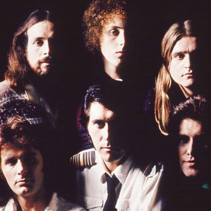 Les membres du groupe Roxy Music.