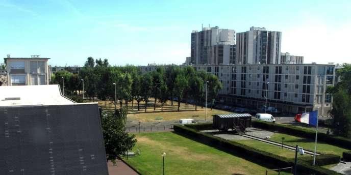 Vue de la Cité de la Muette depuis le Mémorial de la Shoah à Drancy.