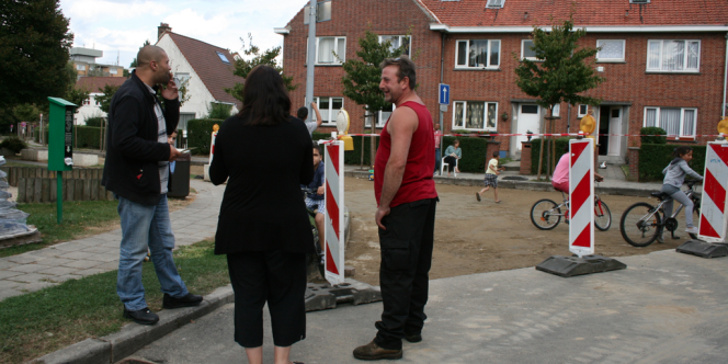 Dans le quartier populaire de Homborch. Environ 10 % des habitants de Bruxelles qui vivent sous le seuil de pauvreté résident à Uccle.
