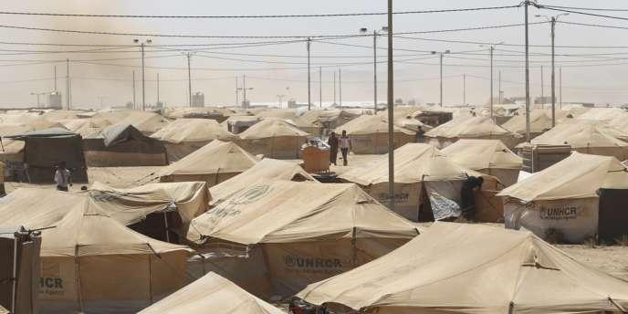 Le camp de réfugiés de Zaatari, à la frontière jordano-syrienne, le 29 août 2012.