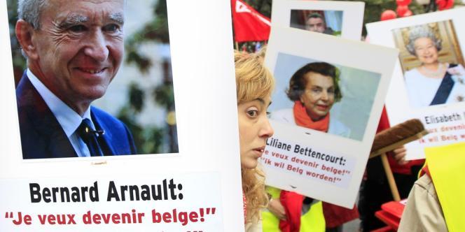 Plusieurs milliers de personnes ont manifesté dans l'un des quartiers les plus chics de Bruxelles, pour dénoncer