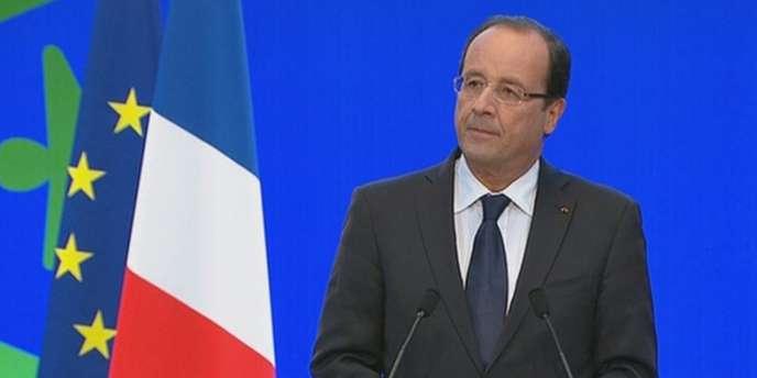 François Hollande lors de l'ouverture de la conférence environnementale, le vendredi 14 septembre 2012.