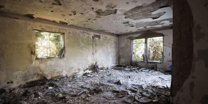Vue d'une des pièces du consulat des Etats-Unis à Benghazi, le 13 septembr.