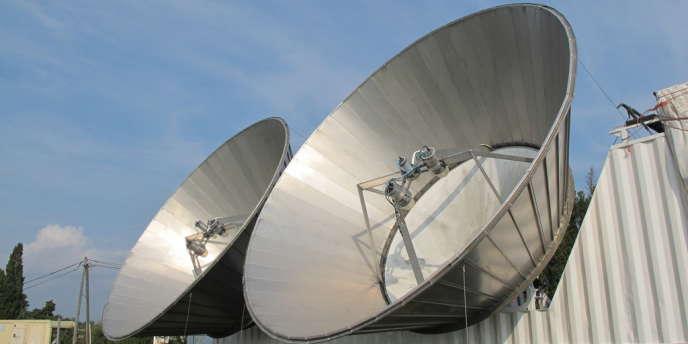 Radar précipitation TARA de l'Université de Delft(pays-Bas), permettant de mesurer la concentration, taille et vitesse des gouttes d'eau dans les orages.Campagne Metéo France Hymex.