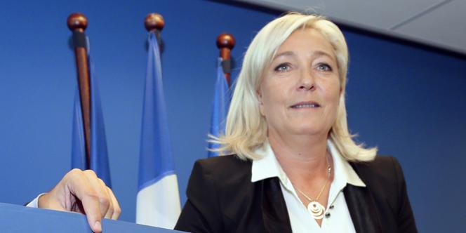 Marine Le Pen au siège du Front national, à Nanterre, vendredi 14 septembre.