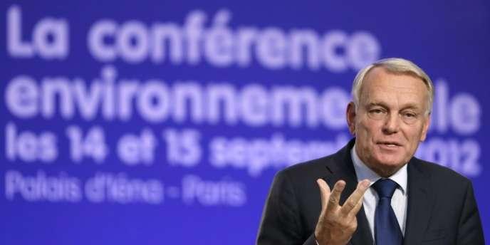 Jean-Marc Ayrault a clôt la conférence environnementale samedi 15 septembre.