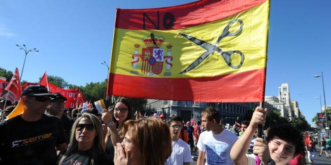 C'est la première grande journée nationale de protestation depuis celle du 19 juillet, lorsque des centaines de milliers de personnes s'étaient réunies à Madrid.