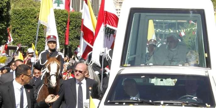 Le pape Benoît XVI à Baabda, au Liban, le 15 septembre.
