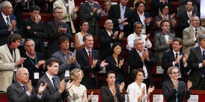 Lors de la conférence environnementale à Paris, le 14 septembre, après le discours inaugural de François Hollande.