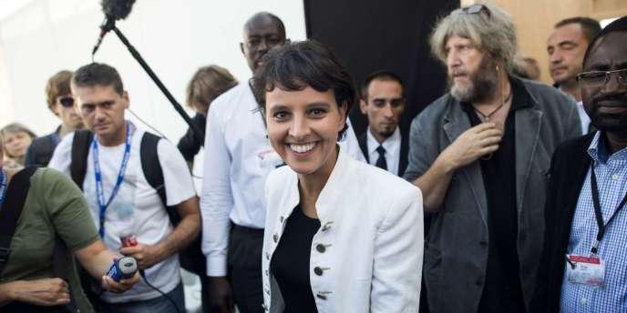 La porte-parole du gouvernement et ministre des droits des femmes Najat Vallaud-Belkacem, le 15 septembre à la Fête de l'Huma.